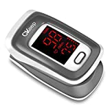 CKeep Fingertip Pulse Oximeter Blood Oxygen Saturation Monitor with LED Screen and Batteries
