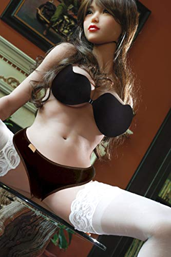 HRhetrin 165 cm Asiatische Mädchen Süße Liebespuppe Realdoll Sexpuppe für Männer Lebensechte Grosse Brust D-tasse Sexspielzeug Sexy Butt Silikon Puppe Mädchen