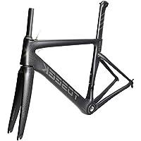 SXMXO Cuadro Completo de Bicicleta de Carretera de Carbono Aero Cycling Racing Bicycle Cuadro de Carbono T800 Cuadro de Bicicleta de Carretera de Carbono 48/51/54/56cm,54cm