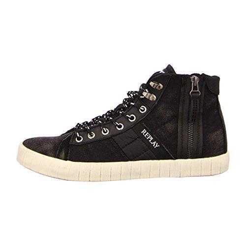 Replay Balland Donna Altoalta Sneakers - Nero, 45 EU