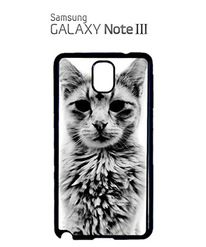 Cat Kitten Angry Grumpy Meow Cool Funny Hipster Swag Mobile Phone Case Back Cover Coque Housse Etui Noir Blanc pour Samsung Galaxy S3 Black Noir