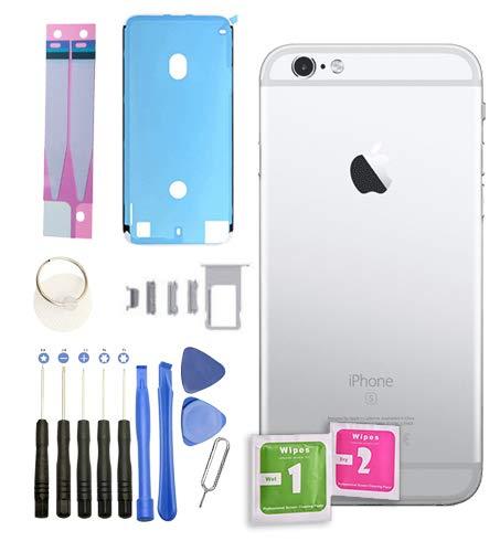 Infigo Backcover für iPhone 6 Silber Gehäuse housing Rahmen Rückseite Aluminium inkl Kleinteile, Akku Klebepad und Werkzeug (iPhone 6, Silber) (Iphone 6 Rahmen)