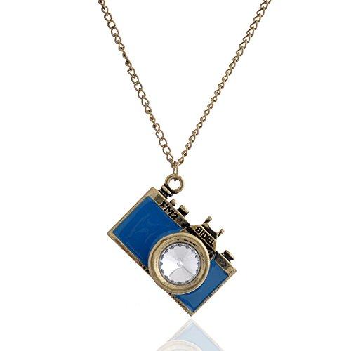 Lureme® plaqué or antique cru émail collier pendentif de style de la...