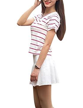Falda De Tenis Plisada Para Mujer Mini Falda De Pliegues Para Escuela Blanco L