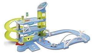 Dickie Toys Majorette 212070060 Eco Tech City - Garaje con 3 Plantas, 2 Metros de Carretera, rampa, Ascensor y Dinamo (Incluye 1 Coche, 102 x 71 x 48 cm) Importado de Alemania