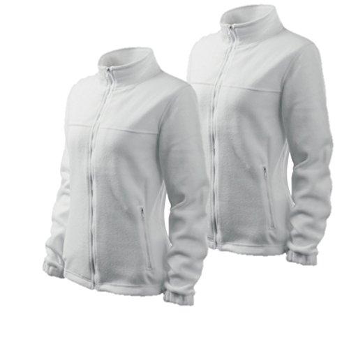 Rimeck by Adler 2er Pack Damen Fleecejacke Outdoor Pullover Fleece (Weiß, X-Small) (Adler Pullover)