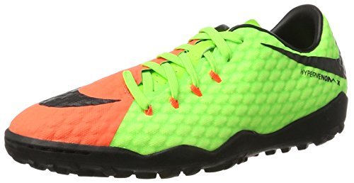 Nike Hypervenomx Phelon 3 TF, Scarpe da Calcio Uomo, Verde (Electric Green/Black-Hyper Orange-Volt), 45.5 EU