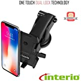 Interio Quick One Touch Adjustable Car Windshield/Dashboard/Working Desk Mount (Black)