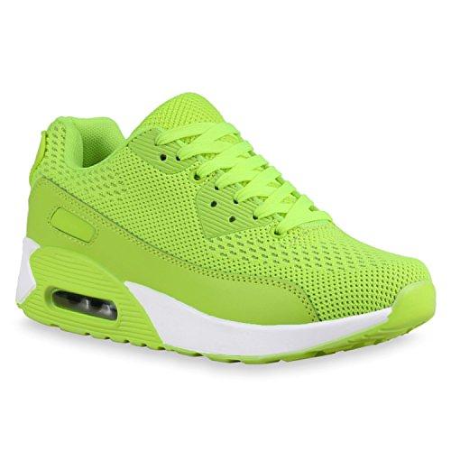 Damen Sportschuhe Trendfarben Laufschuhe Sneakers Runners Neongelb