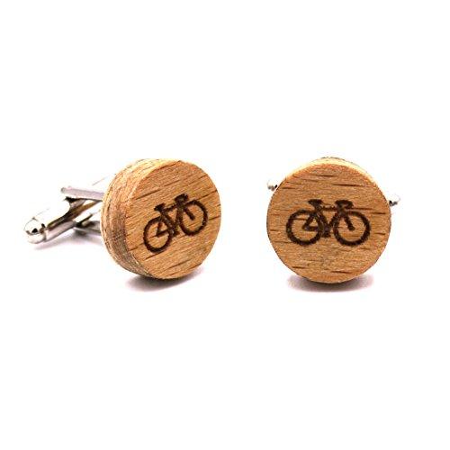 Gemelos madera Bike. Colección moda hombre: Gemelos