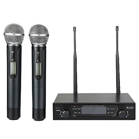 BC Master Microphone Sans fil UHF Deux micro avec Récepteur