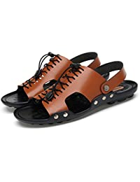 08ec9fc143141 GLSHI Sandali Casual da Uomo con Punta Aperta e Pantofola Anti-Scivolo  (Color