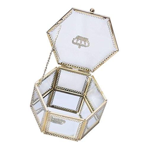 non-brand MagiDeal 1 Stück Glas Anzeigen Schmuckschatulle Vintage-Schmuck-Schaufenster