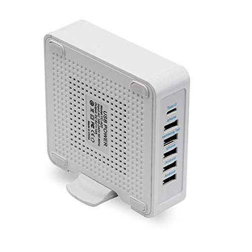 6 port Desktop Multi cargador USB portátil, Quick Charge estación de carga,...