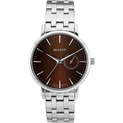 Gant Women's Analogue Watch with Brown Dial Analogue Display and Stainless steel plated gun metal - W10923