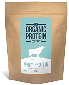Organic Whey Protein - Grass Fed, Additive Free & Gluten Free (400g)