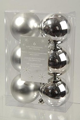 Decoris - Surtido de bolas de navidad ariane plata