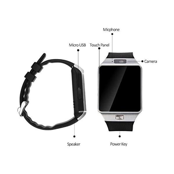 Reloj Inteligente con Cámara Tf/Ranura de Tarjeta Sim, Análisis de Sueño, Podómetro, Anti-Pérdida, Fitness Tracker… 3