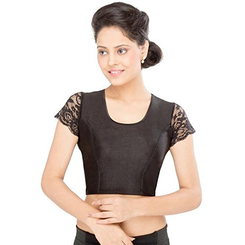 Vamas Shimmer Non-Padded Stretchable Half Sleeves Saree Blouse ( A-33 )