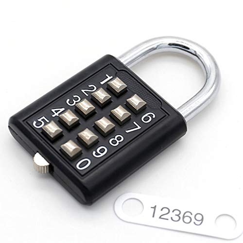 MINION Candado combinación botón 10 dígitos, mecanismo
