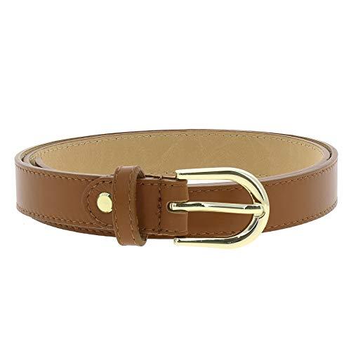 Fashiongen Cintura Donna 250 vera pelle italiana con fibbia dorata HACENA fatto ITALIA