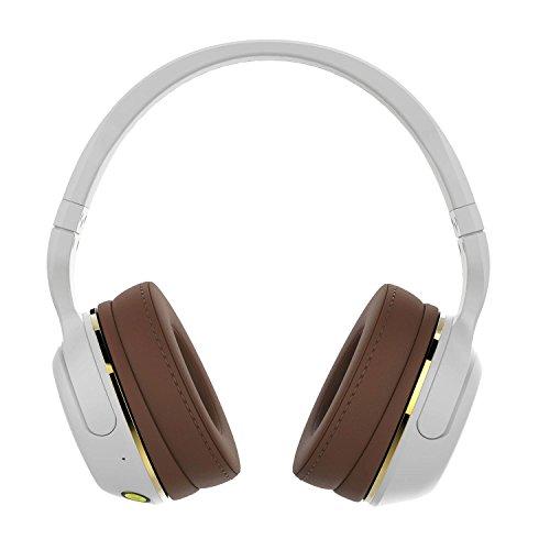 SkullCandy Hesh 2 Cuffie Wireless Over Ear, Bianco/Marrone/Oro