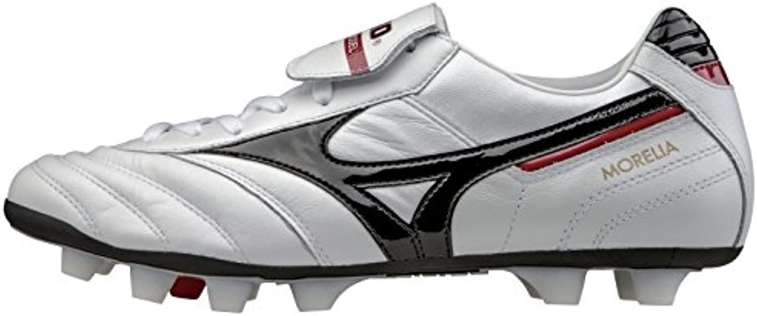 Mizuno Morelia Moulded Firm Ground Football Pearl Black Red
