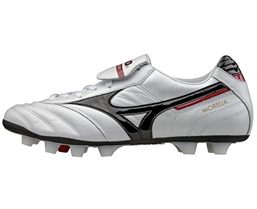 Mizuno Morelia Moulded Firm Ground Football (Pearl-Black-Red) Weiss