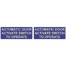 [2x] 5x 2de puerta automática Activar Interruptor a funcionar imanes magnético signos por stickertalk®