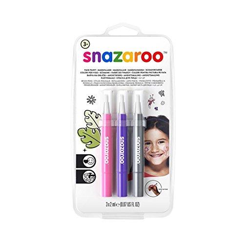 Snazaroo - Set de 3 rotuladores de maquillaje fantasía,...