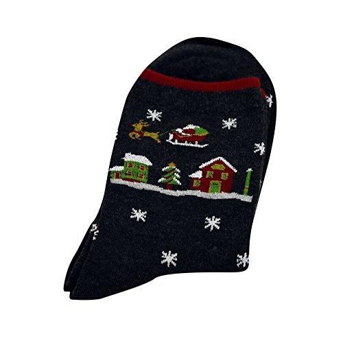 FIRSS Frauen Socken Neuheit Design lustige nette Haustier Schneemann Socks Warm Schneeflocke Stoppersocken Festlicher ()