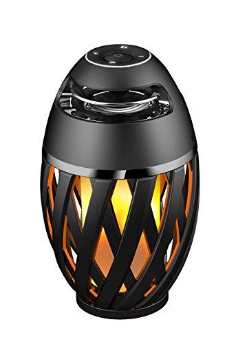 Lexibook Decotech, Lautsprecher Bluetooth mit LED, Flammen, innen und außen, Schwarz BTL075