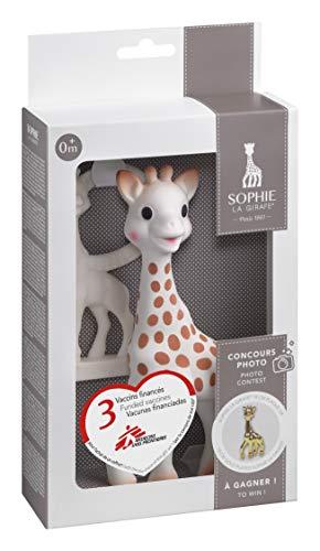 Vulli 516510 Sophie La Giraffa Confezione con Anello Dentizione alla Vaniglia, Multicolore