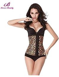 b85dca82933 HITSAN Incorporation Lover Beauty Leopard Print Latex Waist Cincher Shapewear  Corset Women Hot Body Shaper Slimming Waist…