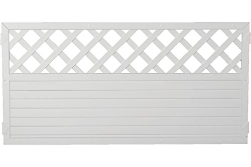 Sichtschutzzaun Kunststoff Gitter weiß 180 x 90 cm (Serie Juist)
