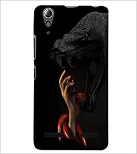 PrintDhaba Snakes D-3483 Back Case Cover for LENOVO A6000 (Multi-Coloured)