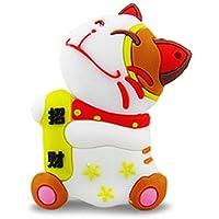 818-Shop No10300020032 USB-Sticks (32 GB) Katze Glücksbringer weiß