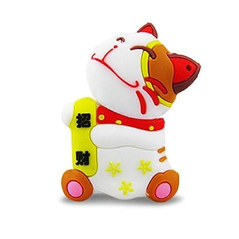 818-Shop no10300020032 Hi-Speed 2.0 USB flash drive 32GB cat lucky charm white