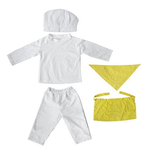 Baby Neugeborene Kinder Dressup Wenig Koch Fotografie Prop Outfit Kostüm - Gelb (Weniger Kostüm Für)