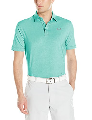Under Armour Herren Charged Cotton Scramble Polo Kurzarmshirt, Mint, XXL (Under Armour Golf Shirts Grün)