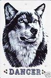 Wolf Husky Sticker Aufkleber Folie 1 Blatt 340 mm x 260 mm wetterfest