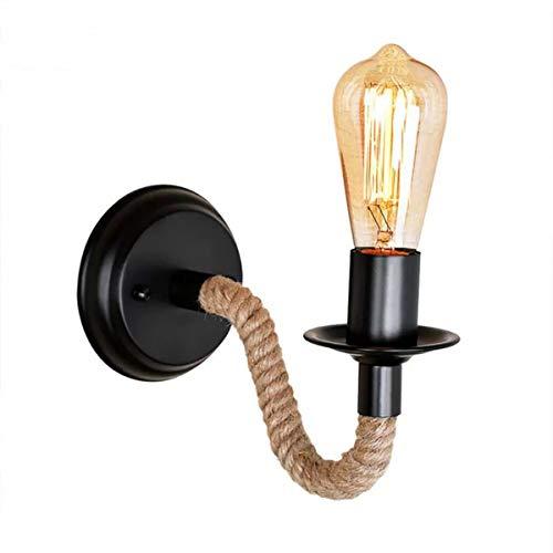 Retro industriellen Rustikaler Pendelleuchte Wandleuchte aus Seil Beleuchtung Vintage Lampe E27 Fassung für für Dekoration von Haus Bar Restaurants Kaffee Club (110 - 220 V, Leuchtmittel nicht verstanden)