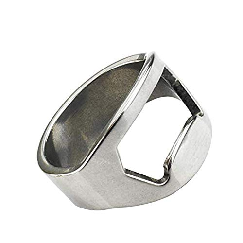 jingyuu 1 Stück Titan Stahl Kapselheber Flaschenöffner Ring Flaschenöffner Schlüsselanhänger mit Ring für Bier,Hochzeit,Hotel, Bar, Zuhause