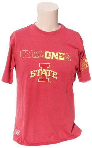 Donegal Bay NCAA Herren T-Shirt Iowa State Cyclones, kurzärmlig, Größe M, Kardinal/Gold - Ls Baumwoll-twill Hemd