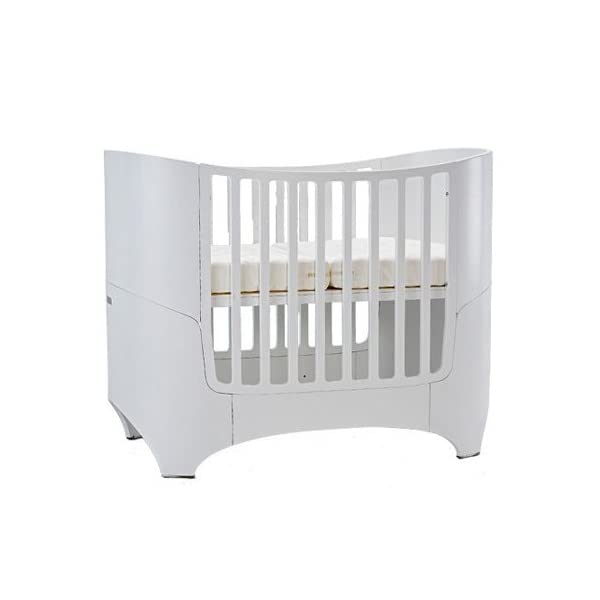 Leander bed, beech white (RAL9016)  Special colour: Painted white Can be used from babies first day to school age Including all mattress and slatted frame parts 6