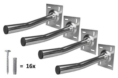 A.S.SAT Autoreifen-Wandhalter-Set für 4 Felgen Reifenhalter Set Reifenwandhalter bis 50kg je Felgenhalter für Wandmontage inkl. Befestigungsmaterial