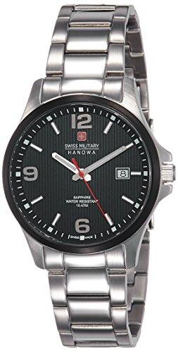 SWISS MILITARY-HANOWA Herren Analog Quarz Uhr mit Edelstahl Armband 06-5277.33.007