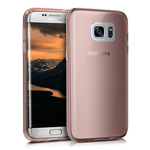 kwmobile-Hlle-fr-Samsung-Galaxy-S7-edge-TPU-Silikon-Backcover-Case-Handy-Schutzhlle-Cover-klar-Rosegold