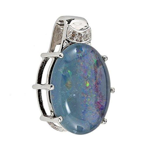 harry-ivens-damen-anhanger-kettenanhanger-sterling-silber-925-rhodiniert-opal-triplette-weisstopas