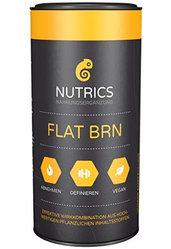 Nutrics FLATBRN 90 Kapseln hochdosiert I 100% Vegane Kombination I Made in Germany